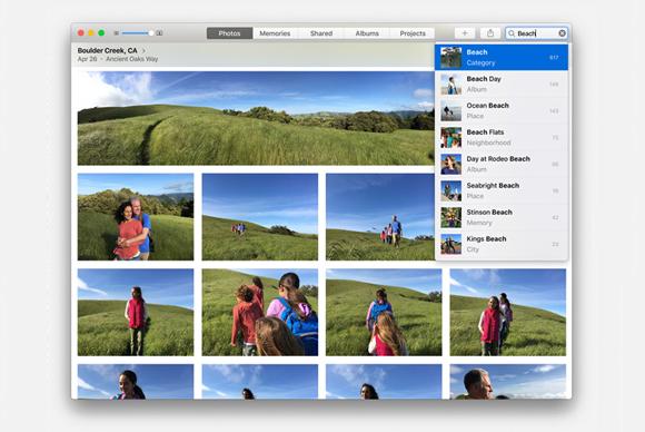 photos mac search