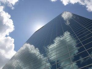 business building mirror cloud