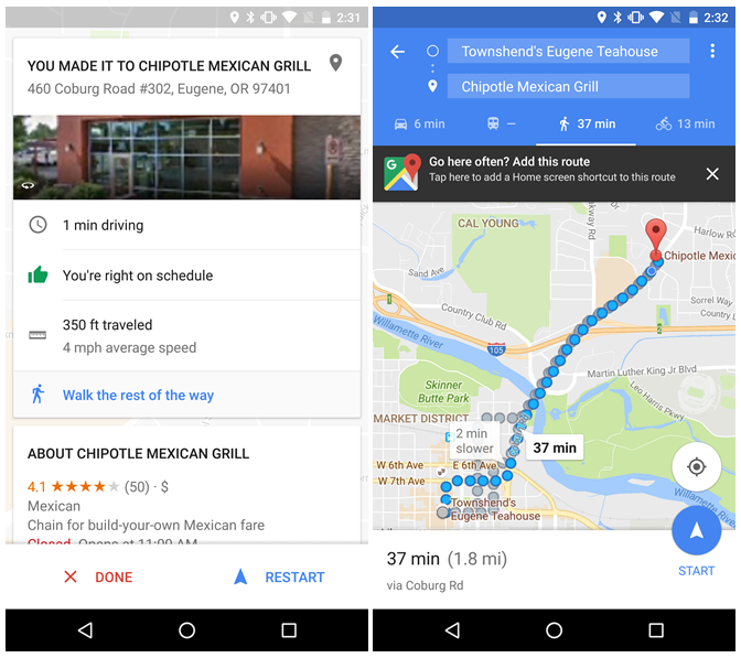 Google Maps Beta Adds Enhancements To Navigation Mode And