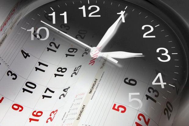 clock and calendar montage