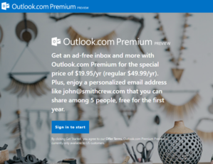 outlook.com preview page