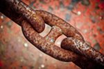 chain rust link heavy iron metal