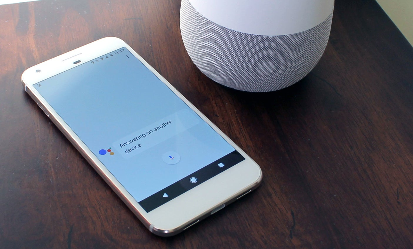 Google home and smartphone