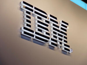 IBM logo sign