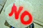 just say no spray paint deny nope