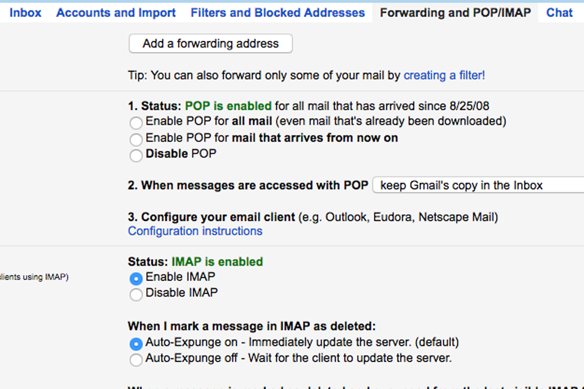 how to go to inbox in gmail from account settings