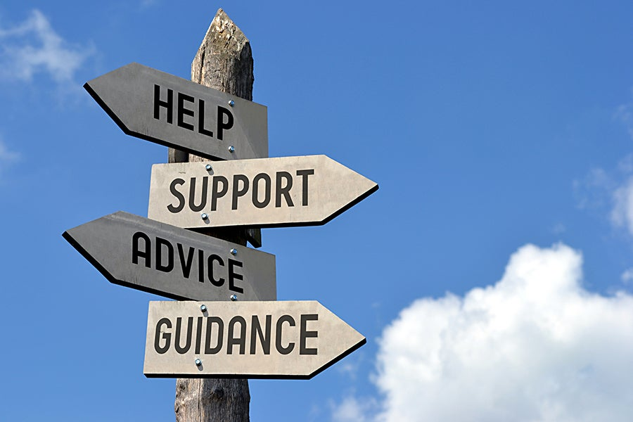 help support advice guidance signpost