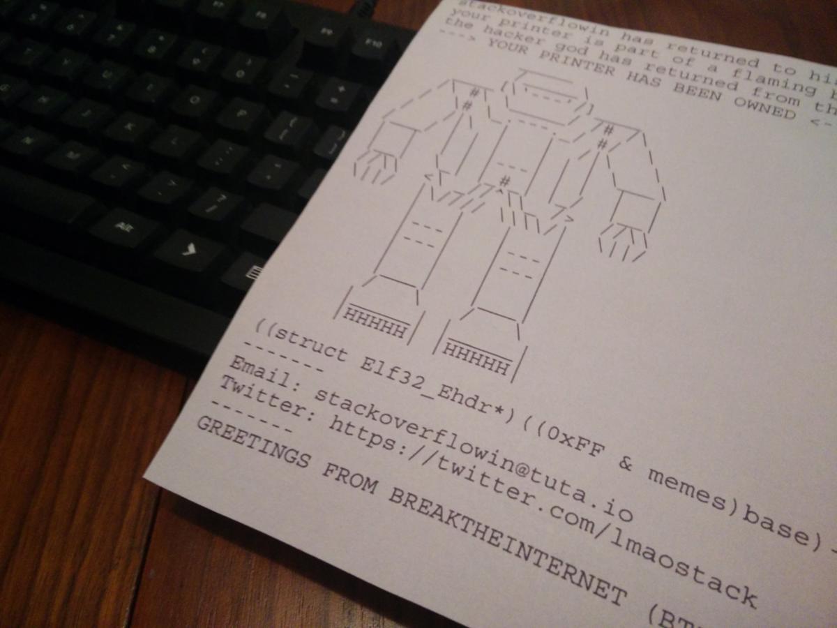 robot printer hack