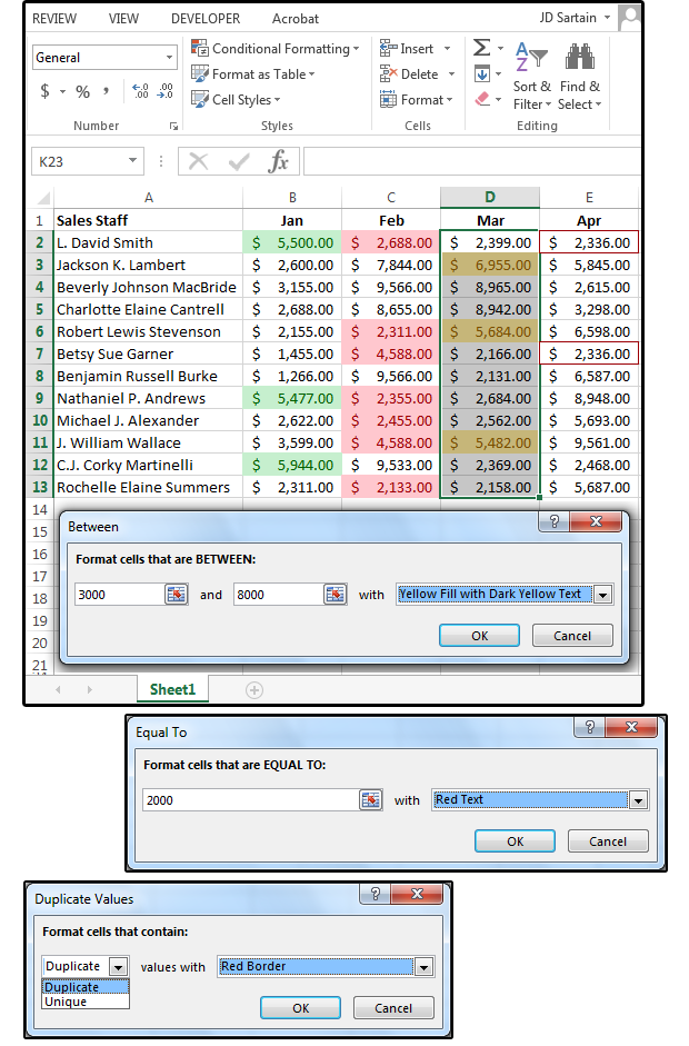 how to use microsoft excel u0026 39 s conditional formatting