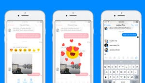 facebook messenger reactions mentions ios app