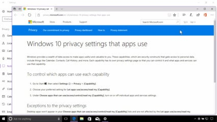 Windows 10 Privacy in the Creators Update