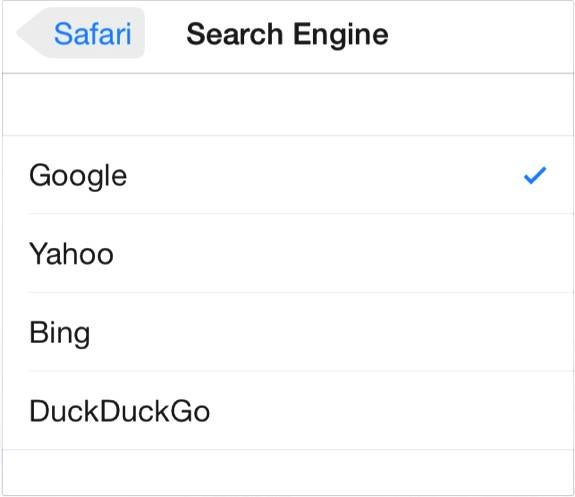 Apple Adds DuckDuckGo to iOS 8 and OS X Yosemite