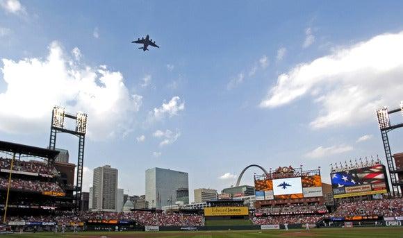 St. Louis Cardinals flyover